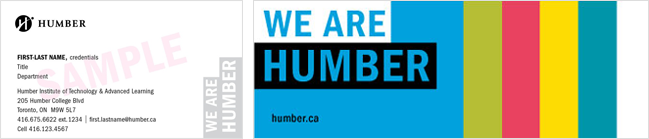 """We Are Humber"" Business Card"