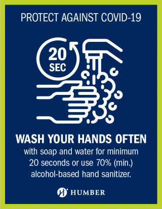 Protect against COVID-19 - Wash Your Hands Often sign