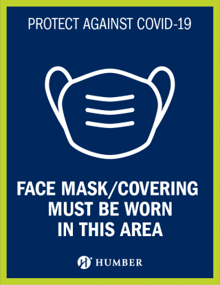 Protect against COVID-19 - Face Mask Image - Face Mask/Covering Must Be Worn In This Area