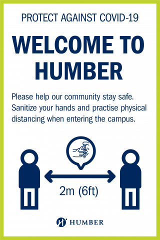 Protect against COVID-19 - please help our community stay safe. Sanitize your hands and practise physical distancing when entering thge campus.