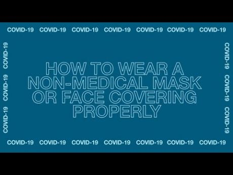 How to Wear a non-medical mask or face covering properly