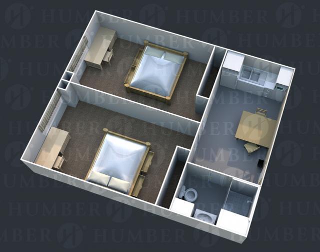 Double suite - 3D Render