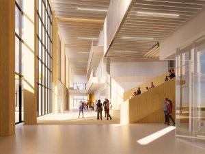 Large bright hallway - The Exchange