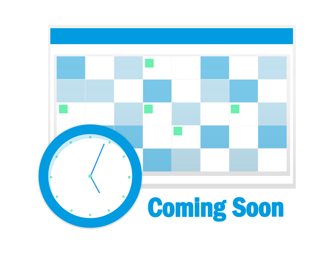 """Image of a calendar with the following caption - """"Coming soon"""""""