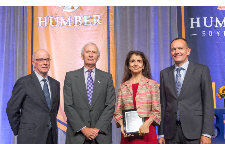 Speakers at a President's Breakfast with Humber College president, Chris Whitaker