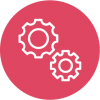 Icon of two intermeshed gears