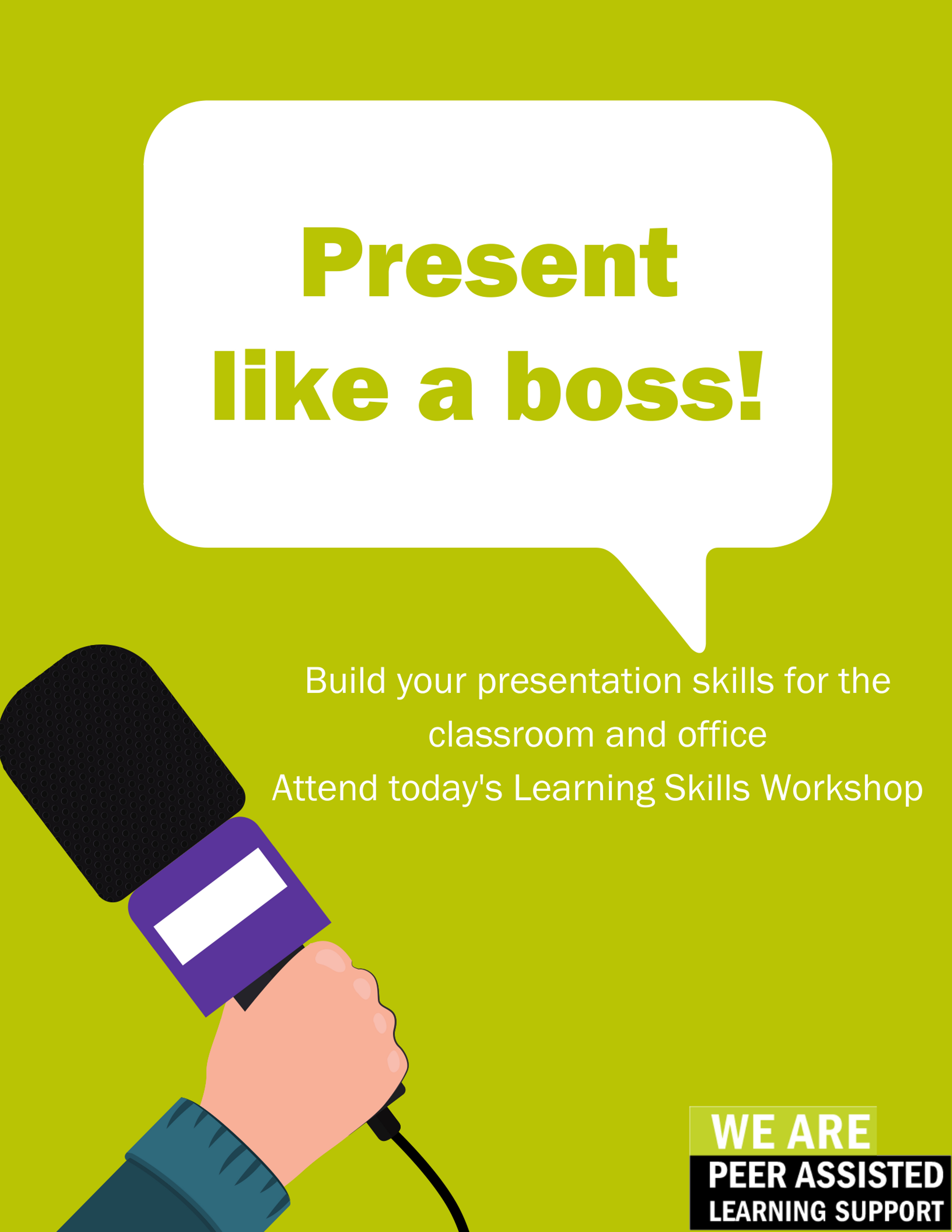 Learn how to present like a boss and build on your presentation skills.