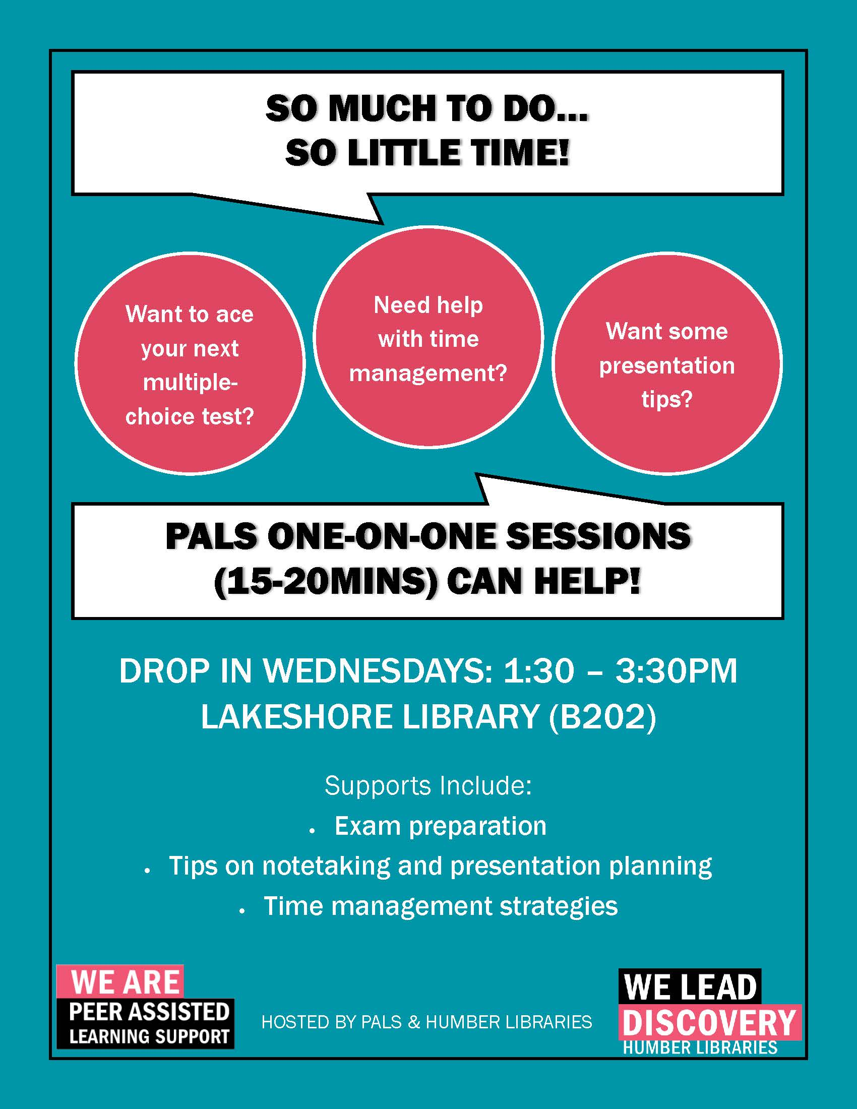 PALS DROP IN ONE-ON-ONE SESSIONS AT LAKESHORE LIBRARY