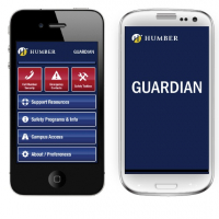 Humber Guardian being displayed on 2 smart phones