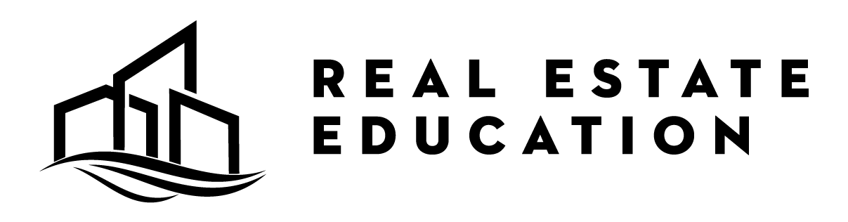 real estate education logo in black