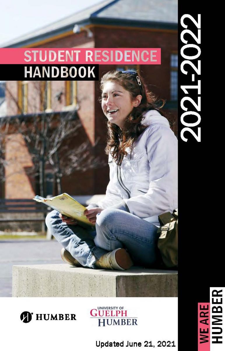 2021-2022 Student Residence Handbook Cover