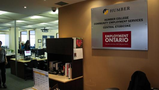View of the Community Employment Services office