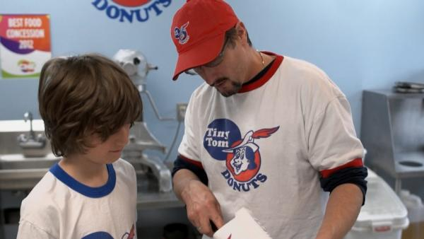 A shot from the short film A Tiny Legacy, which tells the story of the family behind the Tiny Tom Donuts empire.