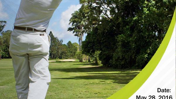 Poster of man swinging golf club