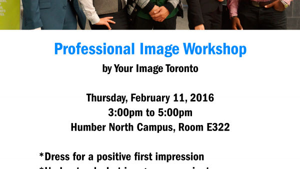 Poster advertising professional image event