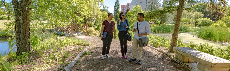 Students walking at Humber Arboretum