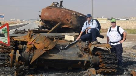 Dr. Jay Dahman and Mark Cameron in Aleppo