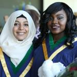 Two of Humber College's newest alumni at their June 2016 convocation ceremony.