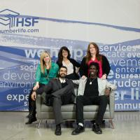 Photo of student representatives, Humber Students' Federation.