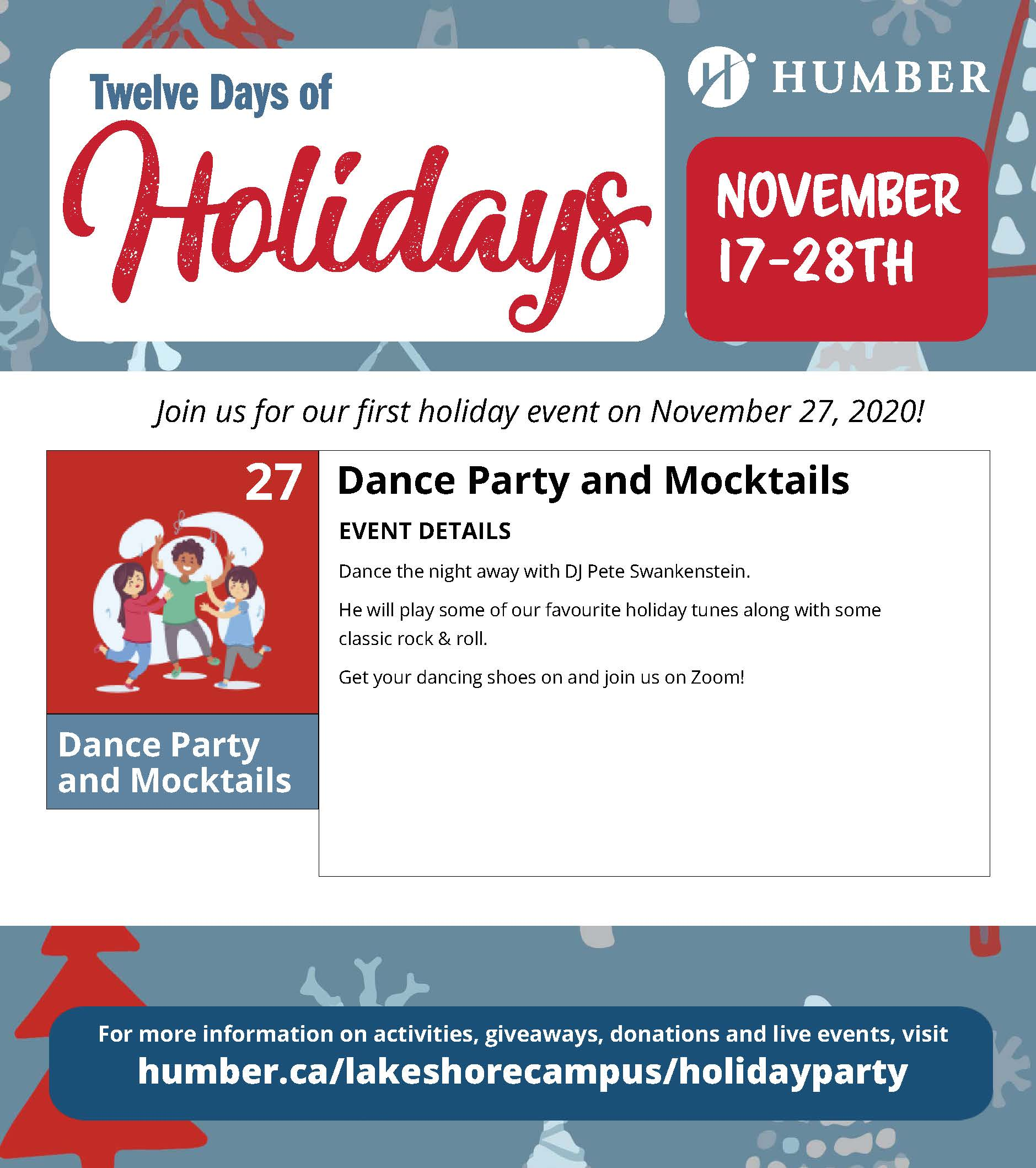 Day 11 of 12 Days of Holidays Activity Explained- Live Dance Party and Mocktails