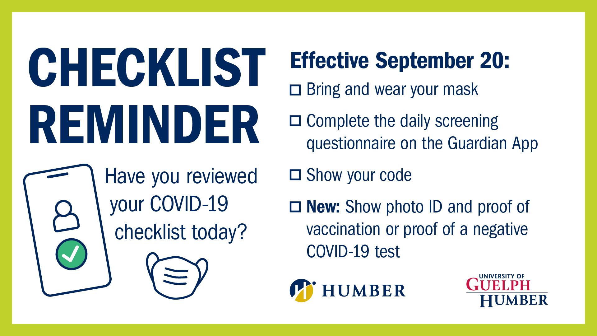 Checklist reminder