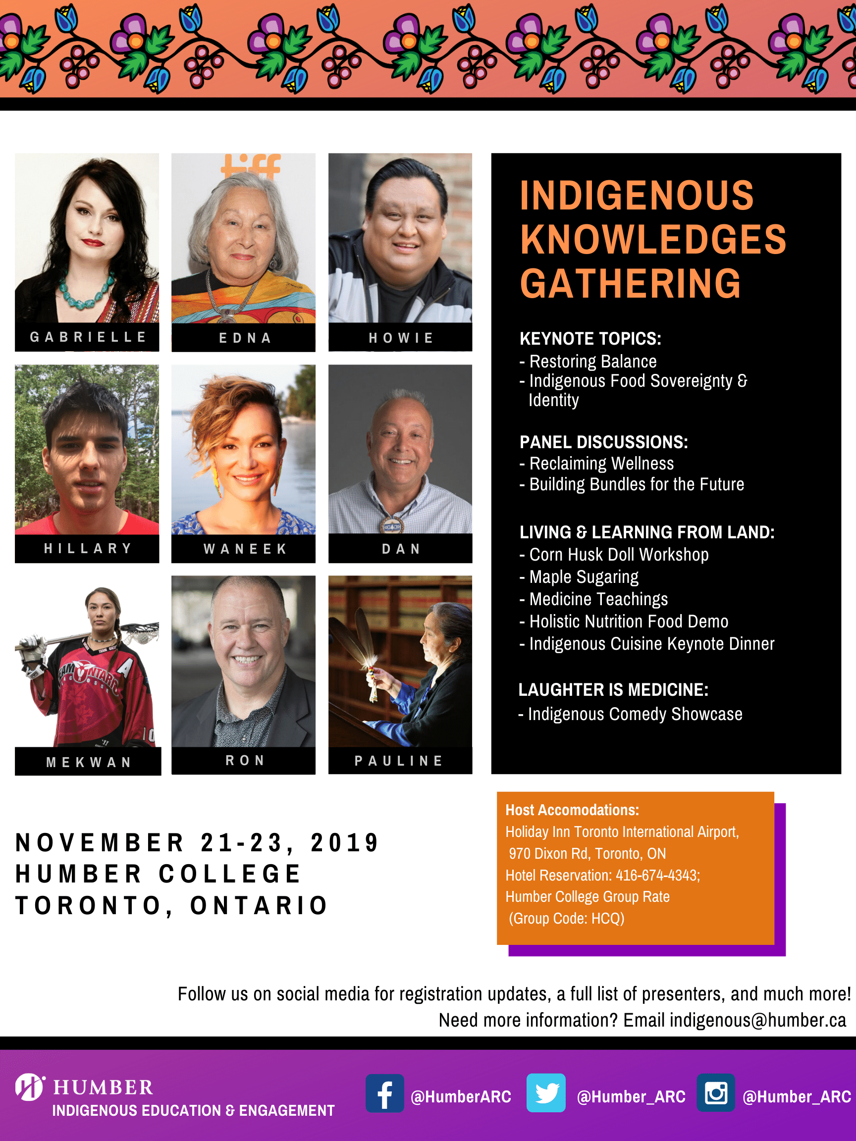 Indigenous Knowledge Gathering at Humber College