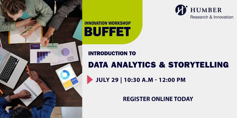 Innovation Buffet Workshop: Introduction to Data Analytics and Storytelling.