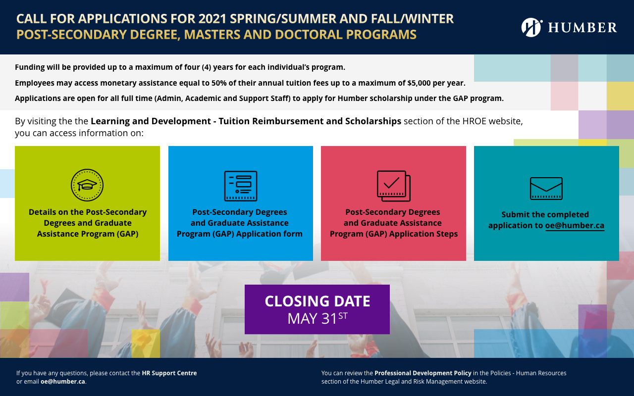 Post-Secondary, Degree and Graduate Assistance Program (GAP) Call for Applications
