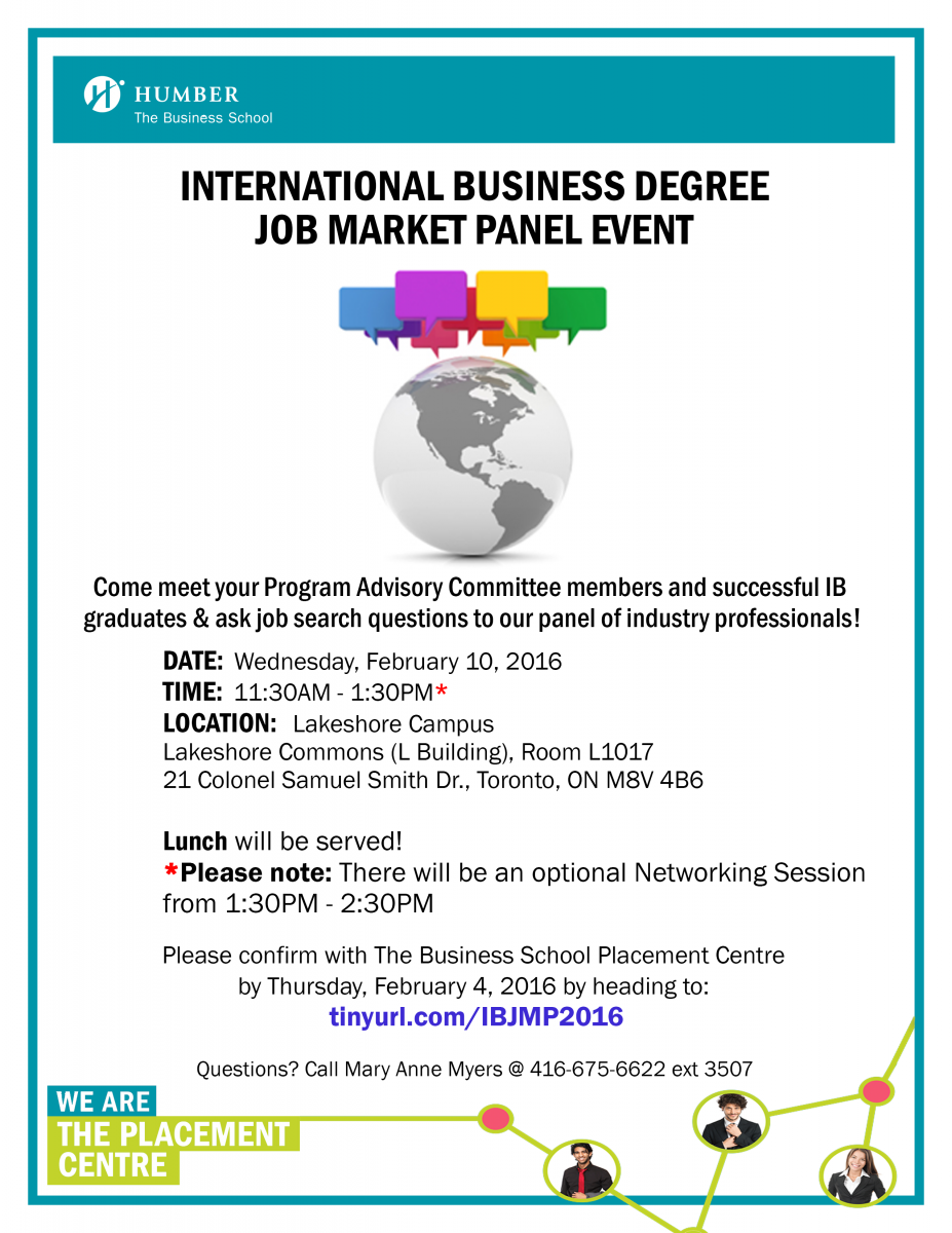 ib degree job market panel event communiqu eacute  ib students are invited to come and meet their program advisory committee members and successful ib graduates to ask job search questions to the panel of