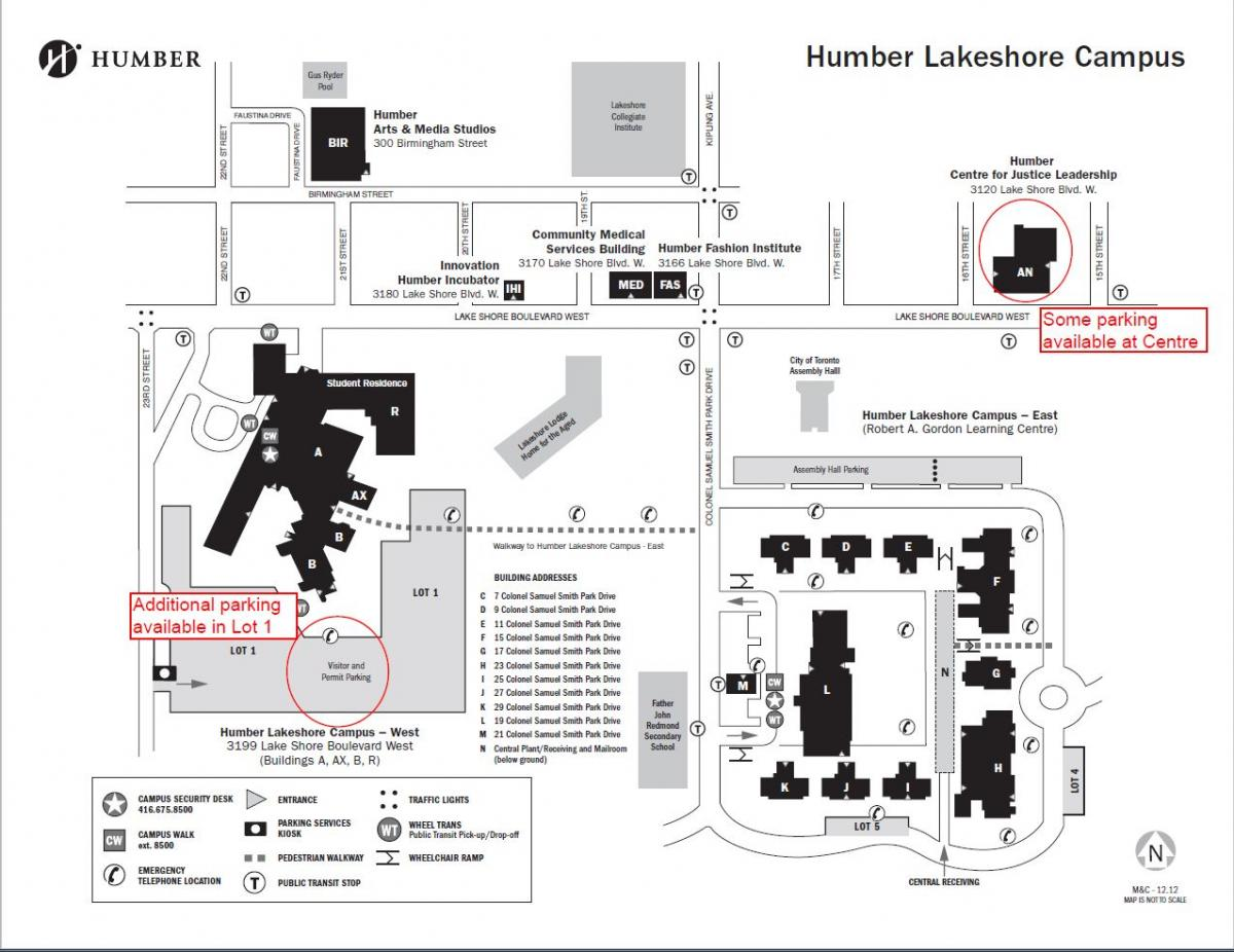 Humber Lakeshore Campus Map Protection, Security and Investigation Information Evening