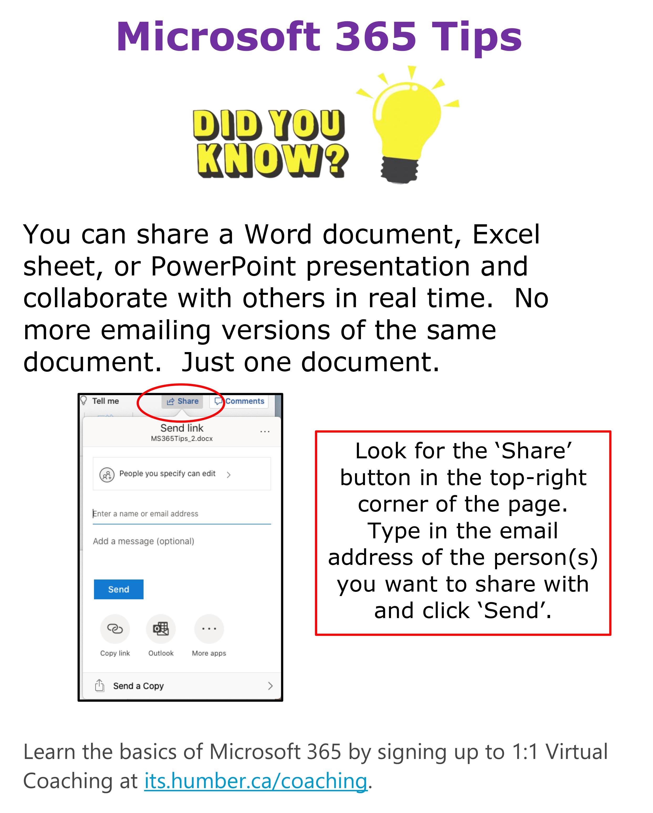 MS 365 Tip - Sharing
