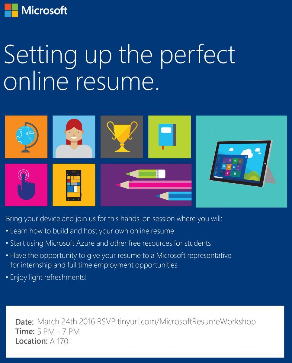 Microsoft Resume Workshop Humber Communiqu