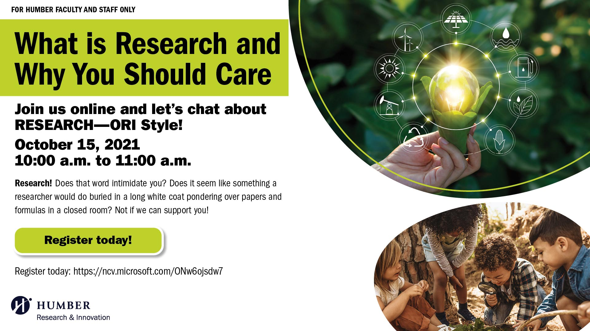 ORI Event: What is Research and Why You Should Care, Oct 15, 10 a.m. to 11 a.m.