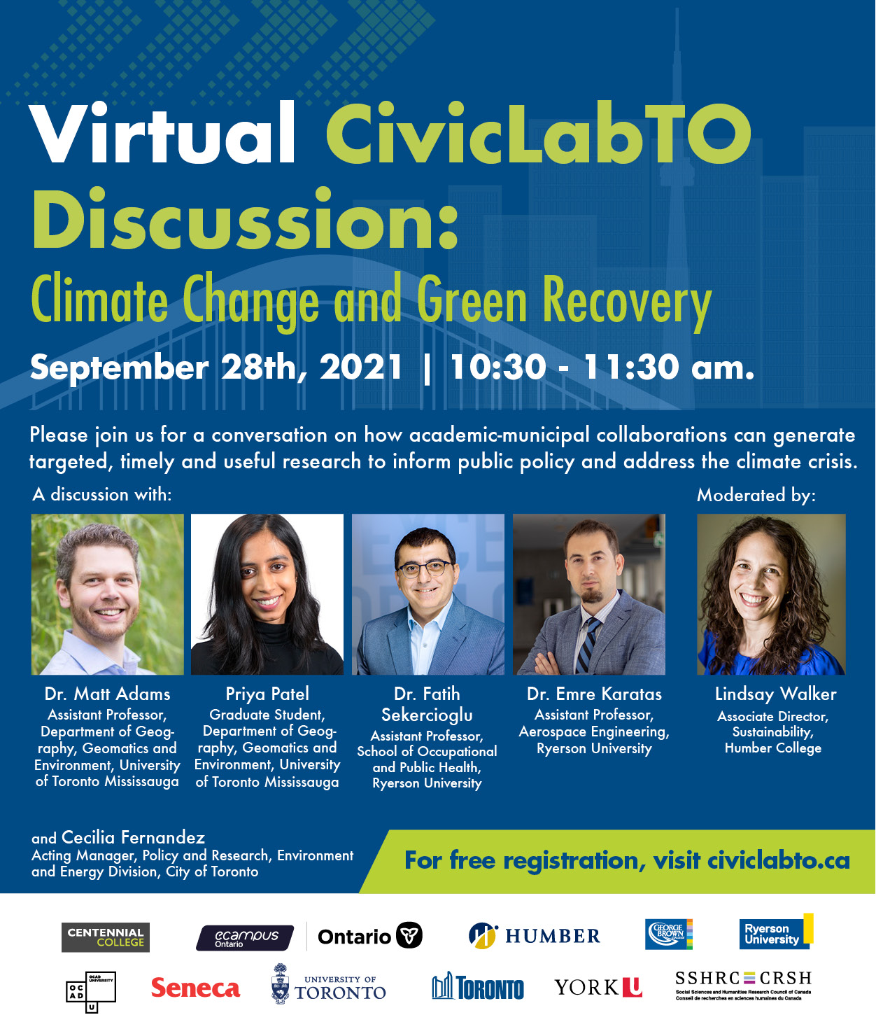 Virtual CivicLabTO Discussion: Climate Change and Green Recovery