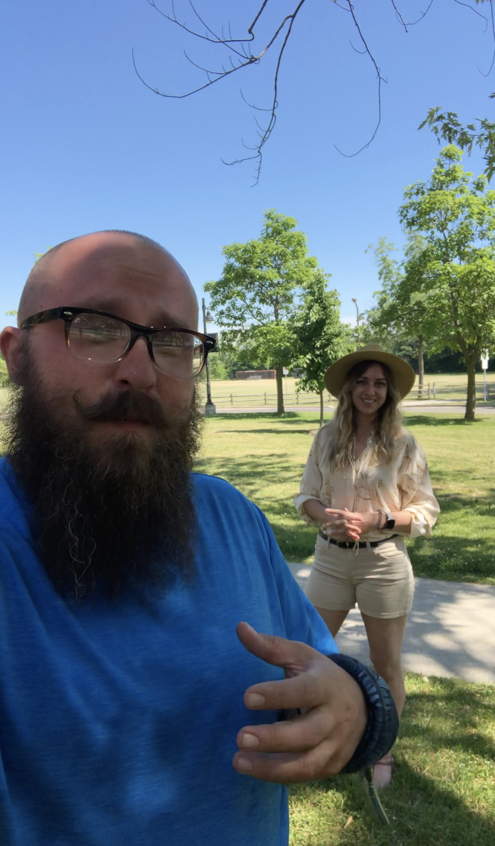 Alex and Nadine from the Lakeshore Grounds Interpretive Centre