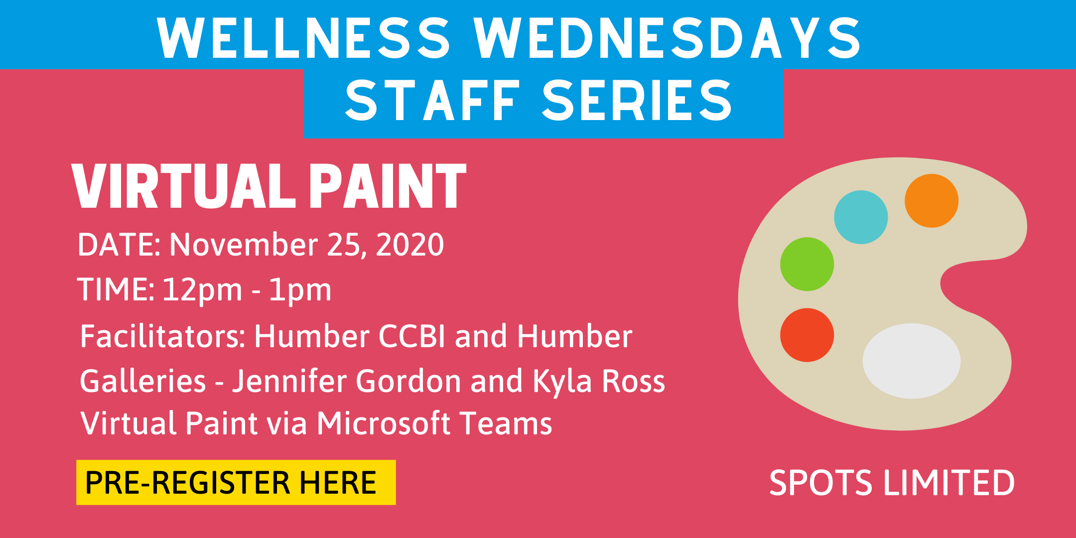 Event Details for the Principal's Wellness Wednesdays - Virtual Paint