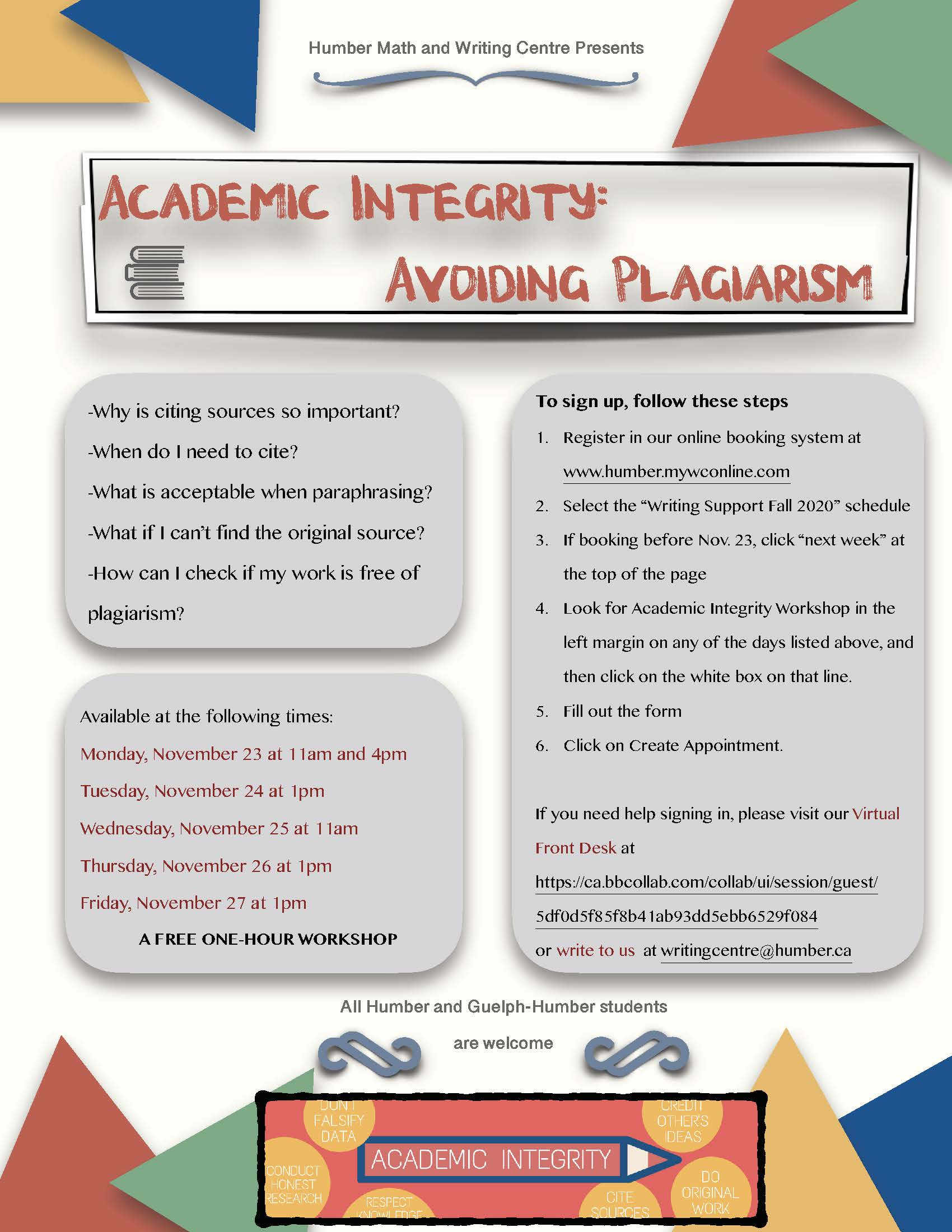 Academic Integrity Poster