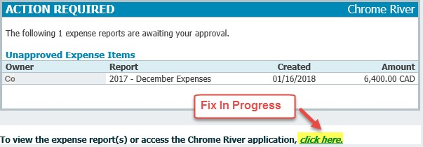 Chrome River Email Notifications Humber Communique