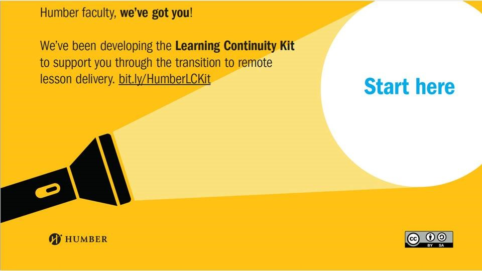 Humber Faculty, we've got you!  We've been developing the Learning Continuity Kt to support you through the transition to remote lesson delivery!