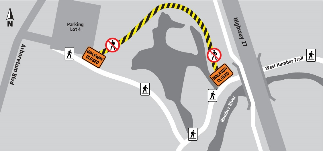 Partial Closure of West Humber Trail in Humber Arboretum