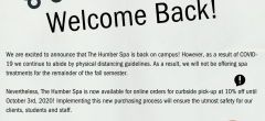 The Humber Spa - Welcome Back