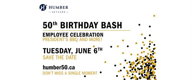 save the date 50th birthday bash and president s bbq humber