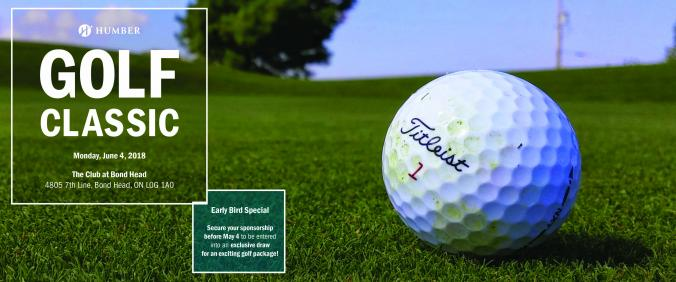 Registration is Now Open for the 2018 Humber Golf Classic