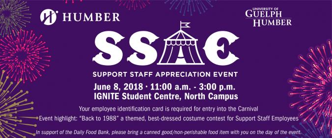 Support Staff Appreciation event June 8 Event highlight 1988 Dress Up Contest for Support Staff Please bring canned good in support of Daily Food Bank