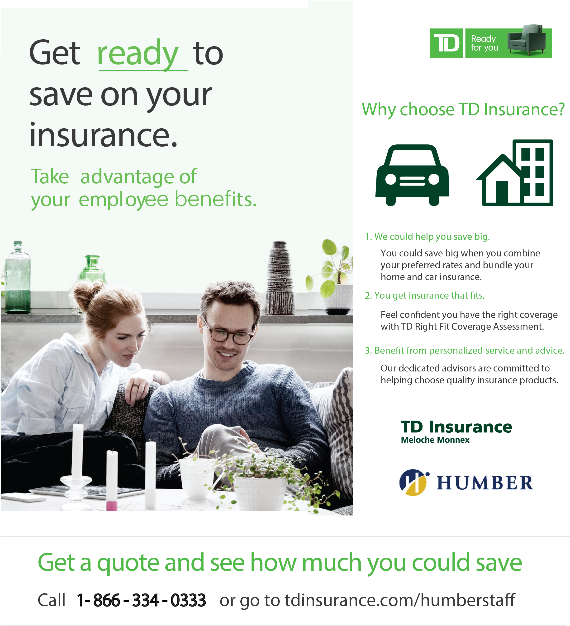 Learn how Humber Employees can Benefit from TD Insurance ...
