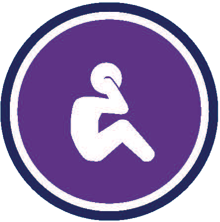 Person Icon doing sit up