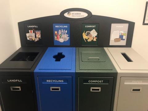 The Humber College Lakeshore Media Arts Building's new sorting bins
