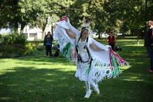 Aboriginal pow wow dancer