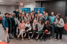 Group of students new to Canada graduating