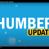 The words Humber update against a blue background.